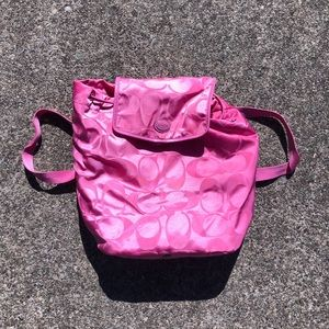 COACH drawstring backpack